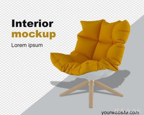 موکاپ سه بعدی صندلی راحتی