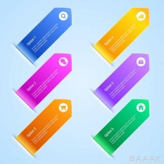 بنر اینفوگرافی با گزینه های رنگی