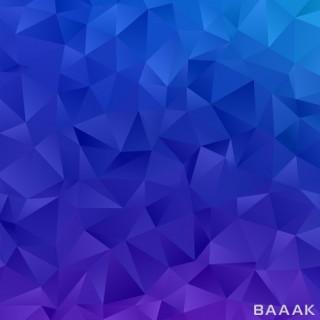 پس زمینه جذاب و آبی رنگ به همراه اشکال چند ضلعی