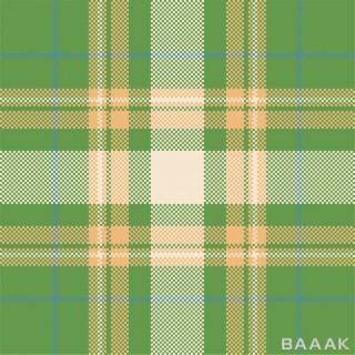 پترن مدرن و جذاب  چهارخونه و شطرنجی سبز رنگ با استایل تارتان اسکاتلندی