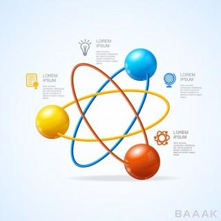 اینفوگرافیک وکتوری با موصوع انرژی هسته ای