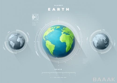 اینفوگرافیک وکتوری با طرح کره زمین