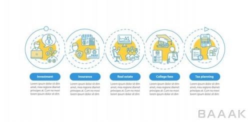 اینفوگرافیک حرفه ای 5 مرحله ای
