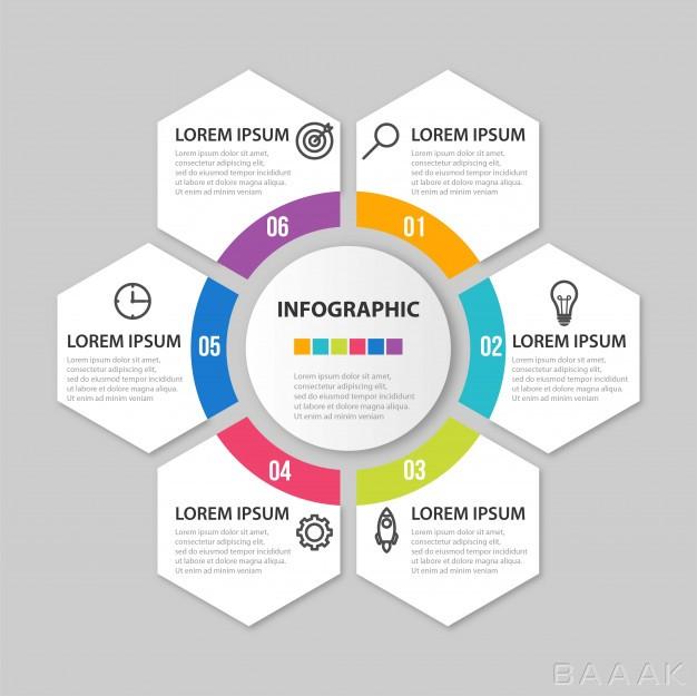 قالب-اینفوگرافیک-6-قسمتی-کسب-و-کار-همراه-با-آیکون-و-اشکال-6-ضلعی-برای-ارائه_495414597