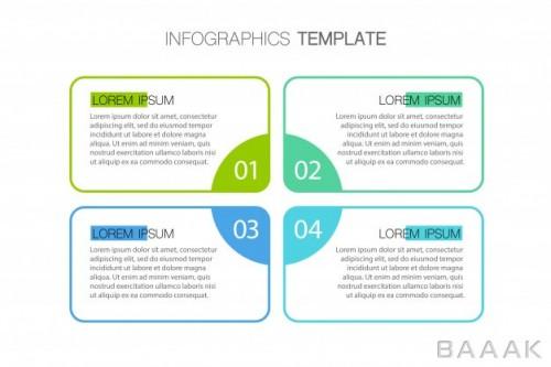 طرح اینفوگرافیک 4 قسمتی کسب و کار برای ارائه