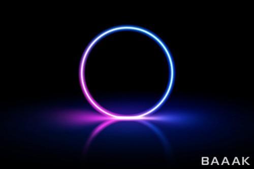 حلقه نئونی با رنگ آبی و صورتی