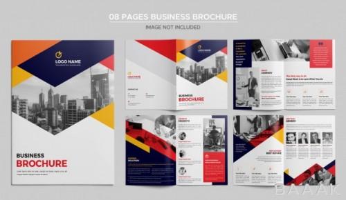 قالب بروشور مدرن تبلیغاتی با 8 صفحه قابل ویرایش