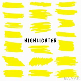 مجموعه براش زرد رنگ