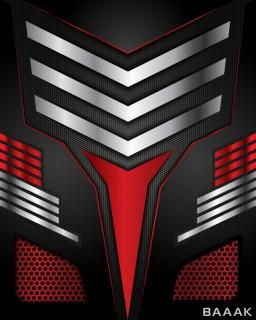 پس زمینه مدرن با اشکال جهت دار و طراحی لوکس و زمینه قرمز و مشکی رنگ