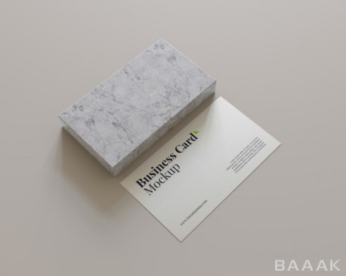 موکاپ کارت ویزیت با طرح سنگ مرمر