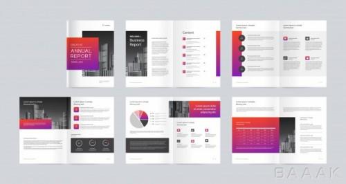 قالب بروشور تبلیغاتی مدرن همراه کاور برای بیزینس و کسب و کار