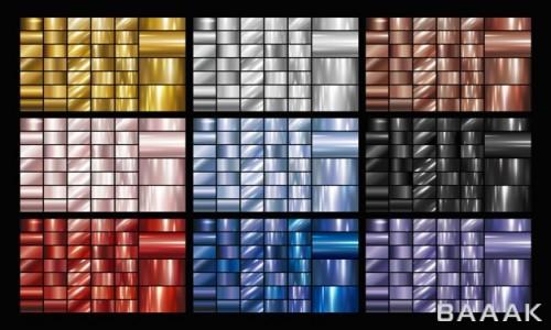 مجموعه تصاویر پس زمینه فلزی با استایل گرادینت