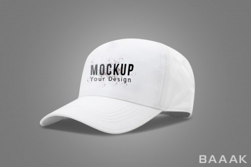 موکاپ کلاه نقابدار سفید رنگ