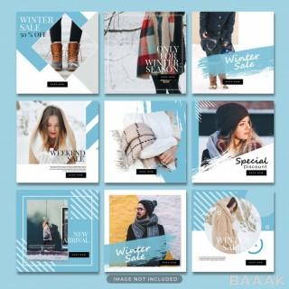 مجموعه قالب پست اینستاگرام با موضوع مد، فشن و لباس