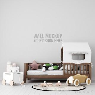 موکاپ دیوار اتاق کودک