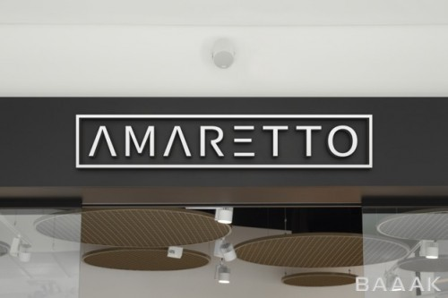 موکاپ سه بعدی لوگو روی تابلوی ورودی مغازه
