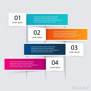 قالب اینفوگرافیک 4 مرحلهای برای بیزینس و کسب و کار