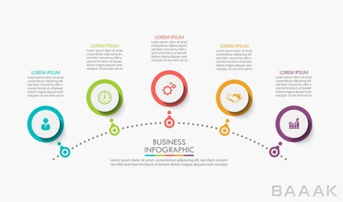 قالب اینفوگرافیک 5 مرحلهای کسب و کار برای ارائه