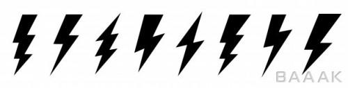 مجموعه آیکون فلت رعد و برق