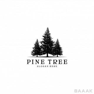 قالب لوگو با تصویر درخت