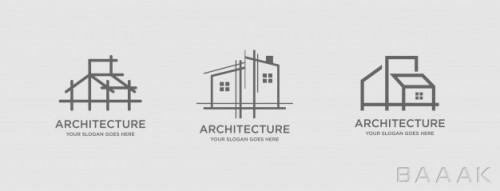 قالب لوگو خاص موضوع معماری