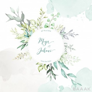 پس زمینه مدرن و خلاقانه Watercolor floral frame multi purpose background