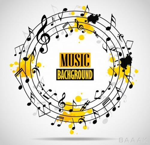 پس زمینه خاص Abstract musical background with notes