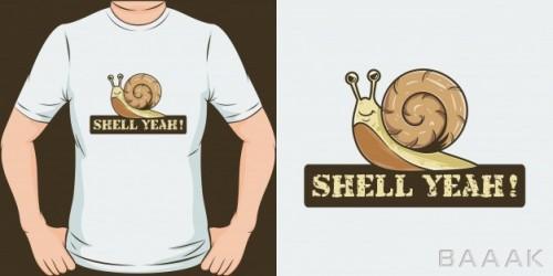 طرح تیشرت فوق العاده Shell yeah unique trendy t shirt design