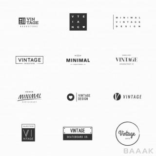 لوگو خلاقانه Vintage vector logo templates brand design