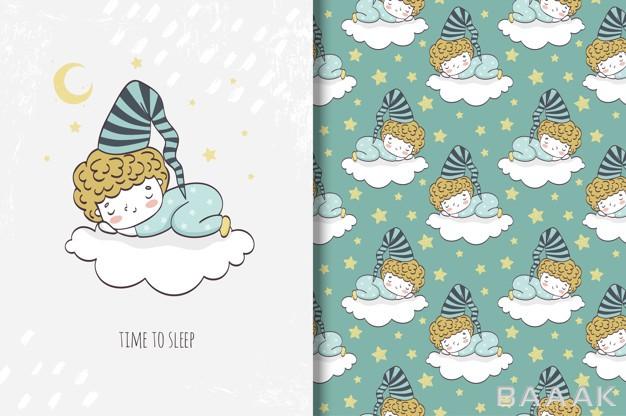 پترن-خاص-و-خلاقانه-Little-boys-sleeping-cloud_308325274