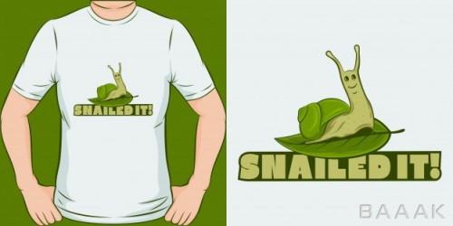 طرح تیشرت مدرن Snailed it unique trendy t shirt design