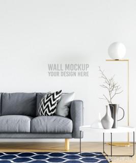 موکاپ مدرن کاغذ دیواری