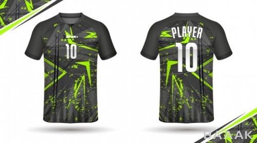 طرح تیشرت فوق العاده Soccer jersey template sport t shirt design