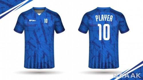 طرح تیشرت خاص و مدرن Soccer jersey template sport t shirt design