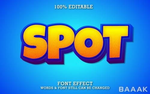 افکت متن زیبا و خاص Modern bold cartoon text effect