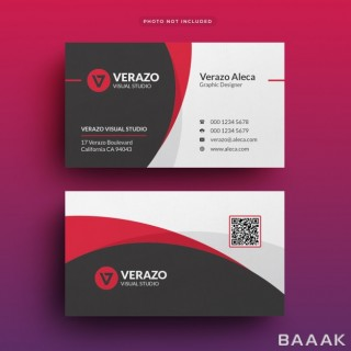 قالب مینیمال کارت ویزیت برای کسب و کار