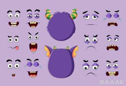 چهره های مختلف هیولای کارتونی