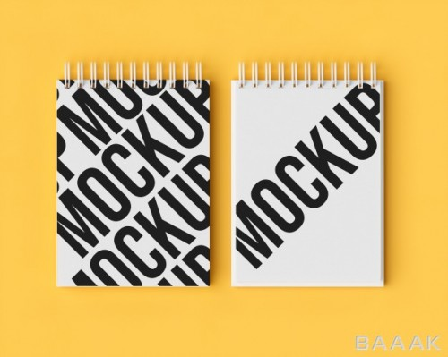 موکاپ دفترچه دوقلو