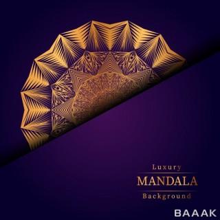 پس زمینه خلاقانه Creative luxury mandala background