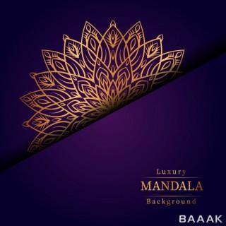 پس زمینه مدرن و جذاب Creative luxury mandala background