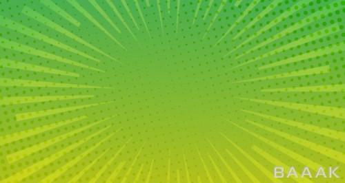 پس زمینه زیبا و خاص Green halftone comic background