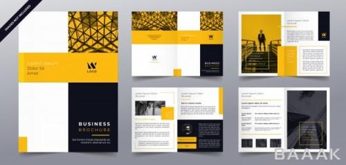 بروشور فوق العاده Business brochure pages template