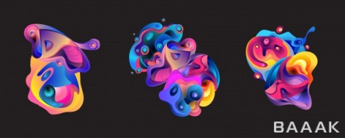 پس زمینه مدرن و خلاقانه Abstract liquid shape background
