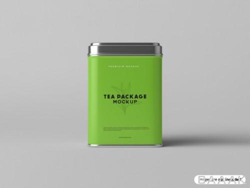 موکاپ بسته بندی فلزی چای
