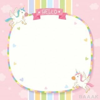 پس زمینه خلاقانه Unicorn pinkk template
