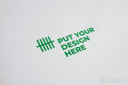 موکاپ لوگو بر روی کاغذ (مقوا)