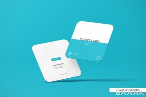 موکاپ کارت ویزیت مربعی