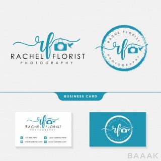 کارت ویزیت جذاب و مدرن Photographer logo template business card