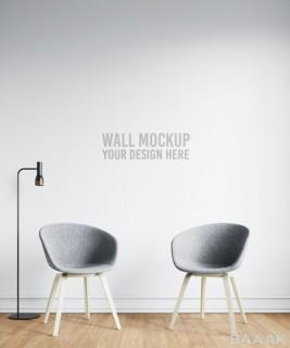موکاپ طراحی کاغذ دیواری