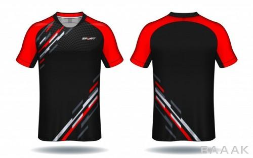 طرح تیشرت خاص و خلاقانه Soccer jersey template sport t shirt design